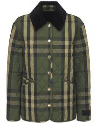 Burberry Стеганая Куртка - Зеленый