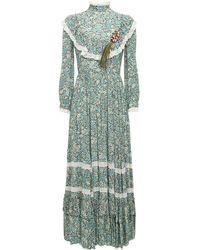 Gucci Liberty クレープドレス - グリーン