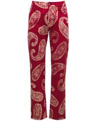 424 Jeans Aus Baumwolldenim Mit Druck - Rot