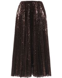 Ralph Lauren Collection スパンコールチュールスカート - マルチカラー