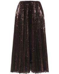 Ralph Lauren Collection スパンコールチュールスカート - ブラウン