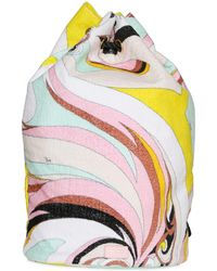Emilio Pucci - Printed Woven Cotton Drawstring Backpack - Lyst