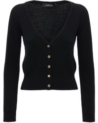 Versace Кардиган Из Кашемира - Черный