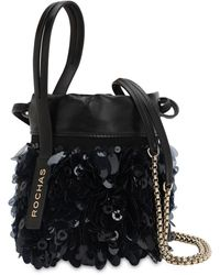Rochas - Sequined Leather Bucket Bag - Lyst