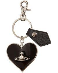 Vivienne Westwood Mirror Heart Key Holder - Black