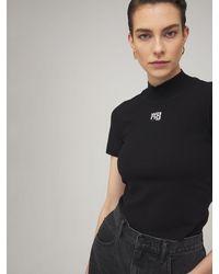 Alexander Wang ストレッチジャージーtシャツ - ブラック