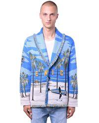 Alanui Venice Beach Wool Blend Knit Cardigan - Blue