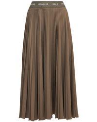 Moncler Genius Hyke Pleated Tech Midi Skirt - Brown