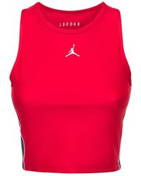 Nike Jordan クロップドトップ - レッド