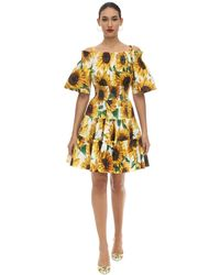 Dolce & Gabbana - コットンポプリン ミニドレス - Lyst