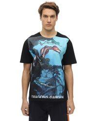 Valentino Dragon Garden コットンtシャツ - ブルー