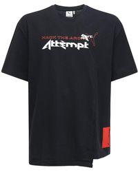 PUMA X Attempt コットンtシャツ - ブラック