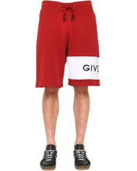 Givenchy - Logo Embroidered Jersey Bermuda Shorts - Lyst