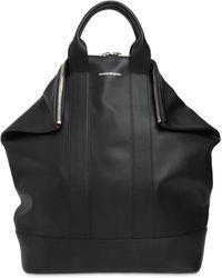 Alexander McQueen Кожаный Рюкзак С Логотипом - Черный