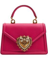 Dolce & Gabbana - Mini Devotion レザートップハンドルバッグ - Lyst