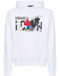 DSquared² Свитшот C Капюшоном И Принтом - Белый