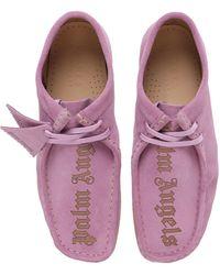 Palm Angels Замшевые Ботинки На Шнурках Clarks Wallabee 30мм - Пурпурный