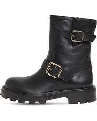 "Jimmy Choo - Кожаные Ботинки ""biker» 30мм - Lyst"