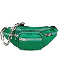 Alexander Wang Mini Attica Satin Belt Bag - Green