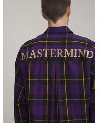 MASTERMIND WORLD Oversized Hemd Aus Baumwolle Mit Karodruck - Lila