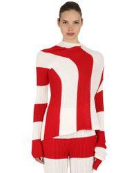Marques'Almeida - Asymmetrical Striped Rib Knit Sweater - Lyst