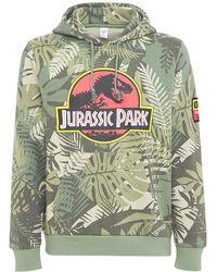Reebok Jurassic Park Cotton Sweatshirt Hoodie - Green