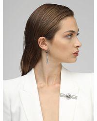 Versace Greek Motif Brooch W/ Crystals - Mehrfarbig