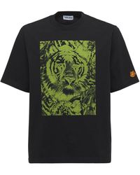 KENZO Wwf Capsule Printed Cotton T-shirt - Черный