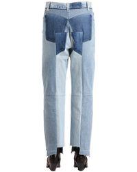 Vetements - Umgearbeitete Jeans Aus Baumwolldenim - Lyst