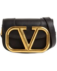 Valentino Garavani Small Supervee Crossbody Calfskin Bag - Black