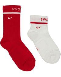 Nike Set: 2 Paar Crew-socken - Rot