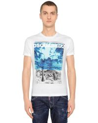DSquared² - Desert Printed Cotton Jersey T-shirt - Lyst