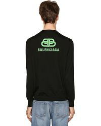 Balenciaga - Pull-Over En Laine Col Rond - Lyst