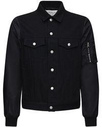 Alexander McQueen Куртка Из Японского Деним - Черный