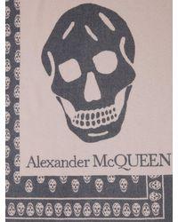 Alexander McQueen Oversized Schal Aus Wolle Mit Schädel - Pink