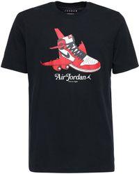 "Nike T-shirt En Coton ""jordan"" - Noir"