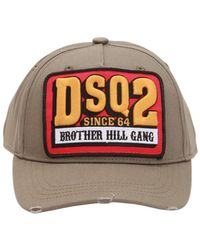 DSquared² - Hill Gang Cotton Baseball Hat - Lyst