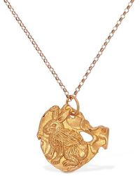 Alighieri Rabbit Zodiac Charm Chain Necklace - Mettallic