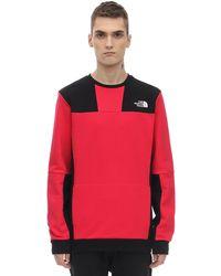 "The North Face Sweatshirt Aus Technostoff ""u Rage Graphic Crew"" - Rot"