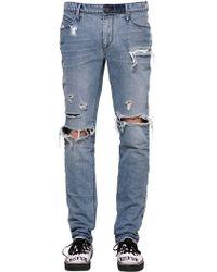 RTA - 17.5cm Enge Jeans Aus Denim Mit Rissen - Lyst