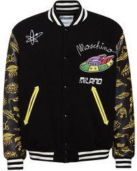 Moschino Куртка-бомбер Из Смешанной Шерсти - Черный