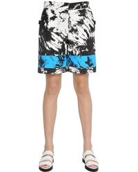 Alexander Wang Tie Dye Printed Nylon Bermuda Shorts - ブルー