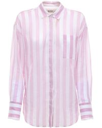 MSGM - Camicia In Cotone Stampato - Lyst