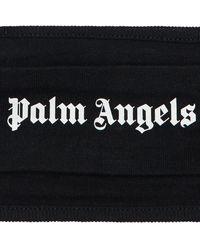 Palm Angels Mundschutz mit Logo-Print - Schwarz