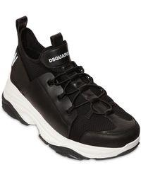 "DSquared² Niedrige Sneakers Aus Technostoff ""icon Bumpee"" - Schwarz"