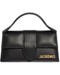 Jacquemus Le Bambino Leather Top Handle Bag - Black