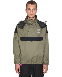 Off-White c/o Virgil Abloh Hooded Ski Military Nylon Anorak - Green