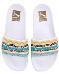 Puma Select - Coogi Knit & Rubber Slide Sandals - Lyst