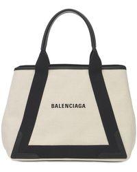 """Balenciaga Borsa Shopping Media """"cabas"""" In Tela - Nero"""