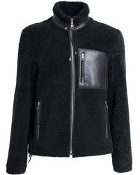 Loewe シアリングジャケット - ブラック